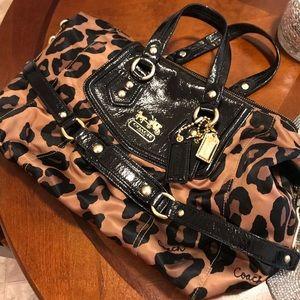 Silk full retail Coach leopard satchel